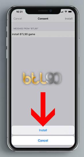 دانلود اپلیکیشن بازی انفجار سایت BTL90 برای گوشی آیفون