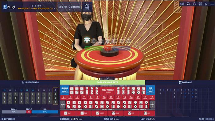 بازی تاس سیک بو در کازینو زنده ایزوگی سایت BTL90 (Sic BO)